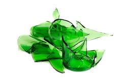πράσινα ανακυκλωμένα απόβλητα γυαλιού μπουκαλιών Στοκ εικόνες με δικαίωμα ελεύθερης χρήσης