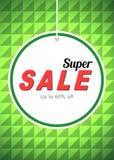 Πράσινα αφίσα και ιπτάμενο πώλησης Στοκ Εικόνες