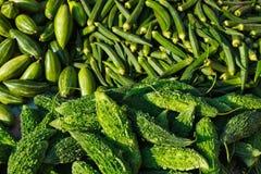 Πράσινα λαχανικά στην ποικιλία Στοκ εικόνες με δικαίωμα ελεύθερης χρήσης