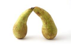 πράσινα αχλάδια δύο Στοκ Φωτογραφία
