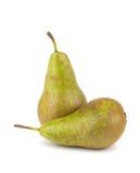 πράσινα αχλάδια ώριμα δύο Στοκ εικόνα με δικαίωμα ελεύθερης χρήσης