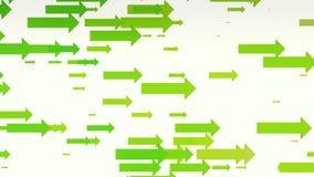 Πράσινα βέλη στο λευκό διανυσματική απεικόνιση