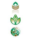 Πράσινα βιο εικονίδια ελεύθερη απεικόνιση δικαιώματος