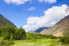 Πράσινα βουνά Καύκασου Στοκ Εικόνες