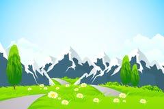 πράσινα βουνά τοπίων Στοκ εικόνα με δικαίωμα ελεύθερης χρήσης