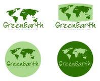 Πράσινα γήινα σημάδια Στοκ Εικόνες