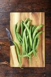 Πράσινα γαλλικά φασόλια στοκ φωτογραφίες