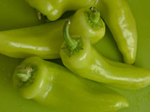Πράσινα γλυκά πιπέρια μπανανών Στοκ Εικόνα