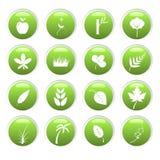 πράσινα εικονίδια περιβάλλοντος Στοκ Εικόνα