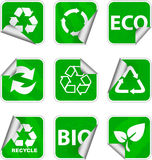 πράσινα εικονίδια περιβά&lambda απεικόνιση αποθεμάτων