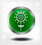 Πράσινα εικονίδια Στοκ Φωτογραφίες