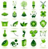 πράσινα εικονίδια eco Στοκ εικόνες με δικαίωμα ελεύθερης χρήσης
