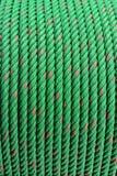 Πράσινα εξέλικτρα σχοινιών Στοκ φωτογραφία με δικαίωμα ελεύθερης χρήσης