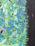 Πράσινα και μπλε γκράφιτι Στοκ Φωτογραφίες