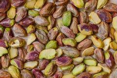 Πράσινα καρύδια φυστικιών χωρίς κοχύλι Στοκ Φωτογραφία