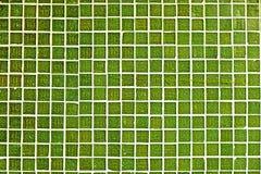 Πράσινα κεραμίδια μωσαϊκών ασβέστη Στοκ Εικόνες