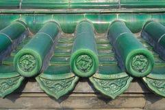 πράσινα κεραμίδια ναών ουρανού δράκων του Πεκίνου Στοκ Φωτογραφία