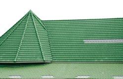 Πράσινα κεραμίδια στεγών Στοκ Φωτογραφίες