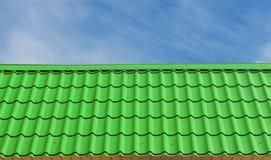 Πράσινα κεραμίδια στεγών Στοκ Εικόνες