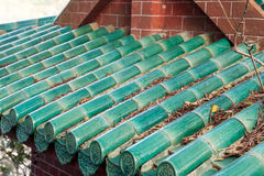 Πράσινα κινεζικά κεραμίδια Στοκ εικόνες με δικαίωμα ελεύθερης χρήσης