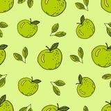 Πράσινα κινούμενα σχέδια μήλων διανυσματική απεικόνιση