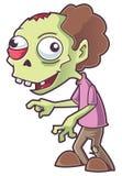 Πράσινα κινούμενα σχέδια Zombie Στοκ φωτογραφία με δικαίωμα ελεύθερης χρήσης