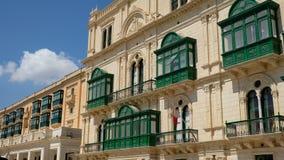 Πράσινα κλειστά μπαλκόνια στοκ φωτογραφία