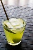 Πράσινα κοκτέιλ/Appletini της Apple Στοκ Εικόνες