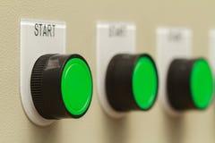 Πράσινα κουμπιά έναρξης Στοκ εικόνα με δικαίωμα ελεύθερης χρήσης