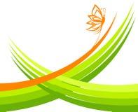 πράσινα κύματα πεταλούδων διανυσματική απεικόνιση