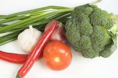 πράσινα λαχανικά καρπού Στοκ Εικόνες