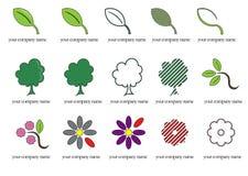 πράσινα λογότυπα επιχειρ Στοκ Εικόνες