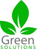 Πράσινα λογότυπο και πρότυπο φύλλων στοκ εικόνες με δικαίωμα ελεύθερης χρήσης