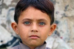 Πράσινα μάτια νότιων ασιατικά παιδιών Στοκ εικόνα με δικαίωμα ελεύθερης χρήσης