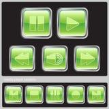 πράσινα μέσα κουμπιών Στοκ Εικόνες