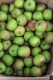 Πράσινα μήλα στην οργανική παραδοσιακή αγορά τροφίμων του τροπικού νησιού του Μπαλί, Ινδονησία Αγορά Sukawati Μήλα Στοκ Φωτογραφία