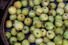 Πράσινα μήλα στην οργανική παραδοσιακή αγορά τροφίμων του τροπικού νησιού του Μπαλί, Ινδονησία Αγορά Sukawati Μήλα Στοκ φωτογραφία με δικαίωμα ελεύθερης χρήσης