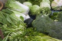 πράσινα μικτά λαχανικά Στοκ Φωτογραφία