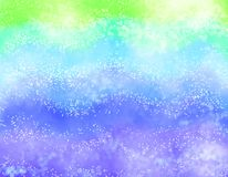 Πράσινα, μπλε και πορφυρά κύματα Θολωμένο ζωηρόχρωμο υπόβαθρο διανυσματική απεικόνιση