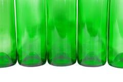 Πράσινα μπουκάλια Στοκ εικόνα με δικαίωμα ελεύθερης χρήσης