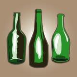 Πράσινα μπουκάλια Στοκ Εικόνες