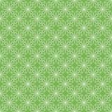 Πράσινα λουλούδια περιγράμματος διανυσματική απεικόνιση