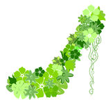 πράσινα παπούτσια λουλο& Στοκ φωτογραφίες με δικαίωμα ελεύθερης χρήσης