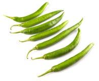 Πράσινα πιπέρια ΙΙ τσίλι Στοκ Φωτογραφίες