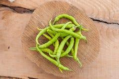 πράσινα πιπέρια ομάδας Στοκ φωτογραφία με δικαίωμα ελεύθερης χρήσης