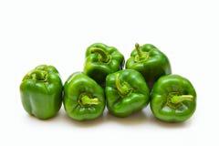 πράσινα πιπέρια Στοκ Φωτογραφίες