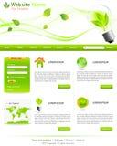 Πράσινα πρότυπα ιστοχώρου Στοκ εικόνα με δικαίωμα ελεύθερης χρήσης