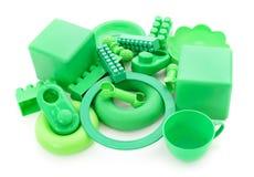 Πράσινα πλαστικά παιχνίδια Στοκ εικόνες με δικαίωμα ελεύθερης χρήσης