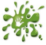 Πράσινα σημεία με ένα χέρι Στοκ Φωτογραφία