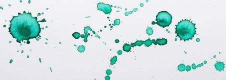 Πράσινα σημεία μελανιού Στοκ φωτογραφίες με δικαίωμα ελεύθερης χρήσης